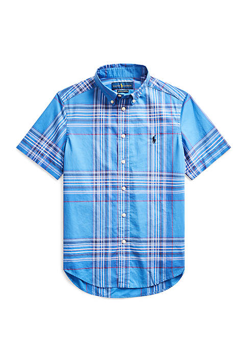 Ralph Lauren Childrenswear Boys 8-20 Plaid Cotton Poplin