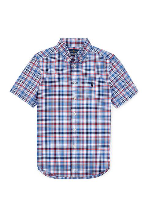 Ralph Lauren Childrenswear Boys 8-20 Plaid Cotton Poplin