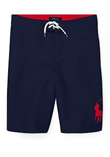 Ralph Lauren Childrenswear Boys 8-20 Sanibel Big Pony Swim Trunks