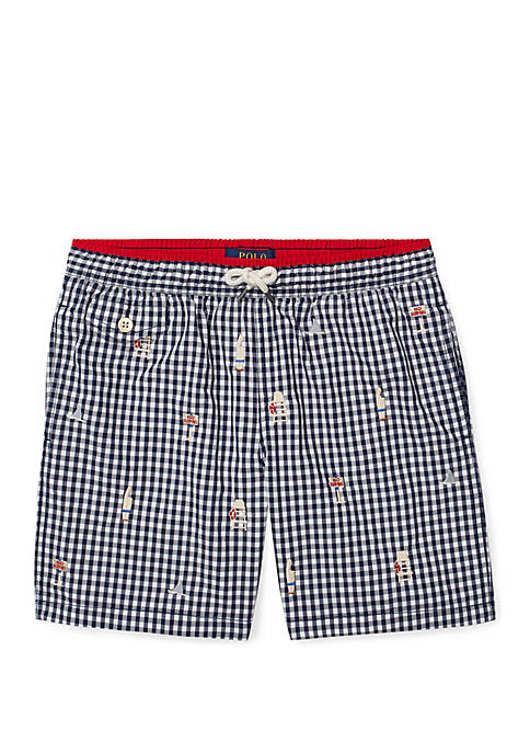 Ralph Lauren Childrenswear Boys 8-20 Traveler Gingham Swim