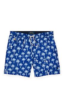 Ralph Lauren Childrenswear Boys 8-20 Traveler Polo Bear Swim Trunks