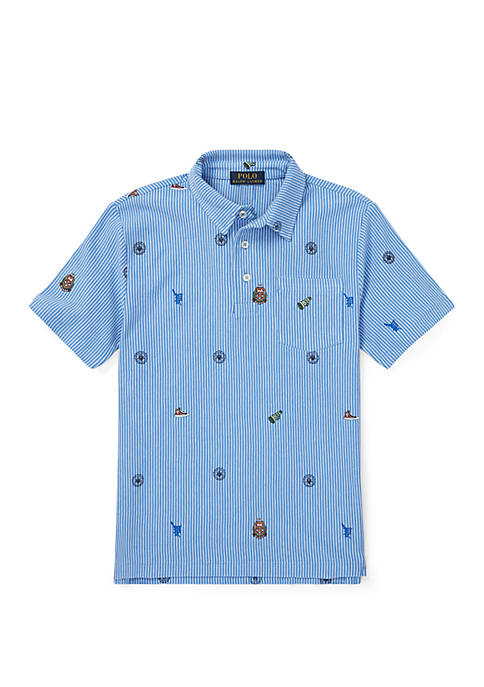 Boys 8-20 Featherweight Graphic Polo