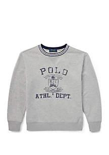 Ralph Lauren Childrenswear Boys 8-20 Twill Terry Graphic Sweatshirt