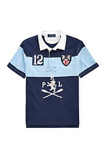 Ralph Lauren Childrenswear Boys 8-20 Striped Cotton Rugby Shirt