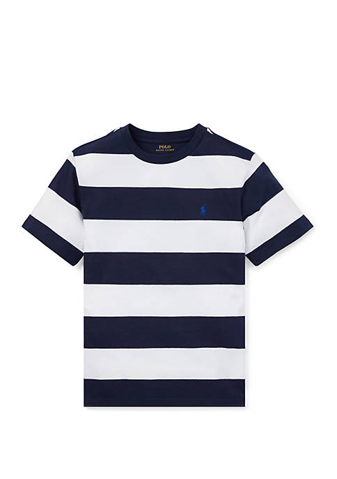 Ralph Lauren Childrenswear Boys 8-20 Striped Cotton Jersey