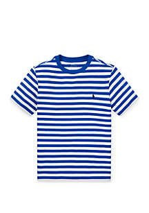 Ralph Lauren Childrenswear Boys 8-20 Striped Cotton Jersey Tee