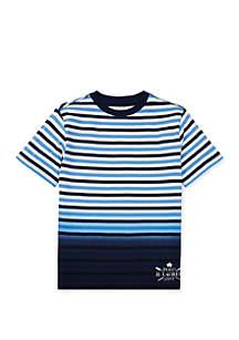 Ralph Lauren Childrenswear Boys 8-20 Ombré Striped Cotton Tee