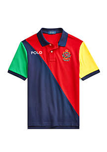 24058431 ... Ralph Lauren Childrenswear Boys 8-20 Color-Blocked Mesh Polo Shirt