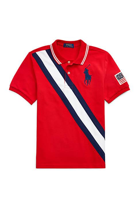 Boys 8-20 Big Pony Mesh Polo Shirt