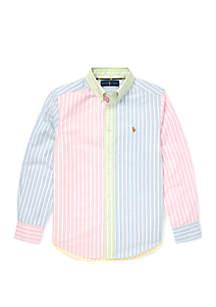 Ralph Lauren Childrenswear Boys 8-20 Striped Cotton Fun Shirt