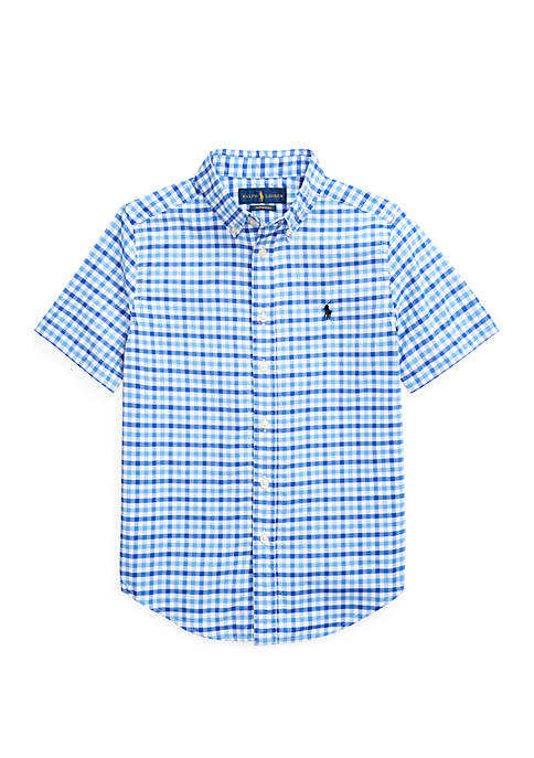 Ralph Lauren Childrenswear Boys 8-20 Gingham Performance Poplin