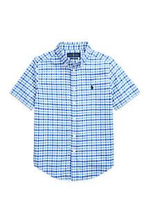 Ralph Lauren Childrenswear Boys 8-20 Gingham Performance Poplin Shirt