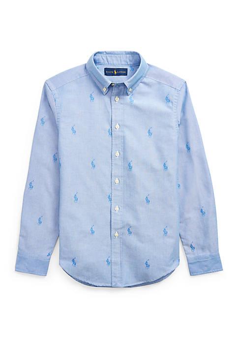 Ralph Lauren Childrenswear Boys 8-20 Allover Pony Cotton