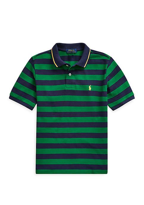 Boys 8-20 Striped Cotton Mesh Polo Shirt