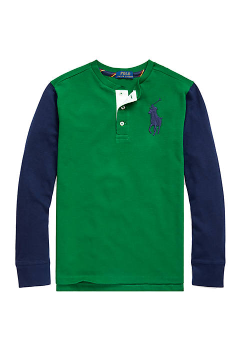 Ralph Lauren Childrenswear Boys 8-20 Big Pony Cotton