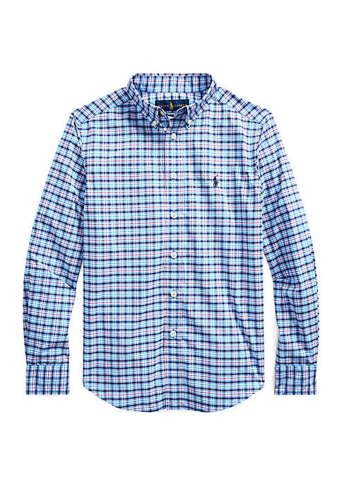 Boys 8-20 Performance Poplin Shirt