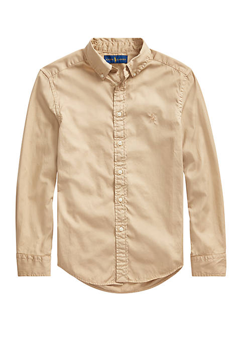 Ralph Lauren Childrenswear Boys 8-20 Cotton Twill Shirt