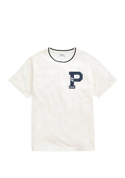 Ralph Lauren Childrenswear Boys 8-20 Letterman Cotton Jersey