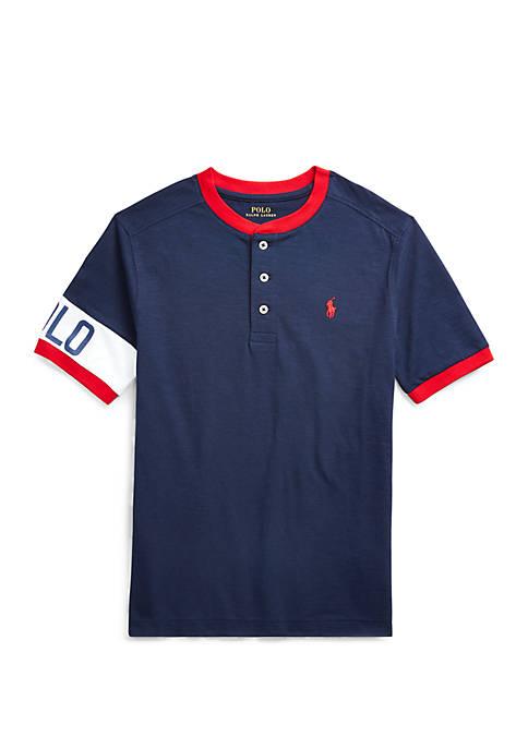 Boys 8-20 Cotton Jersey Graphic Henley Shirt