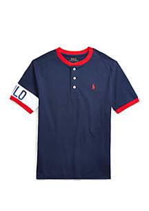 Ralph Lauren Childrenswear Boys 8-20 Cotton Jersey Graphic Henley Shirt
