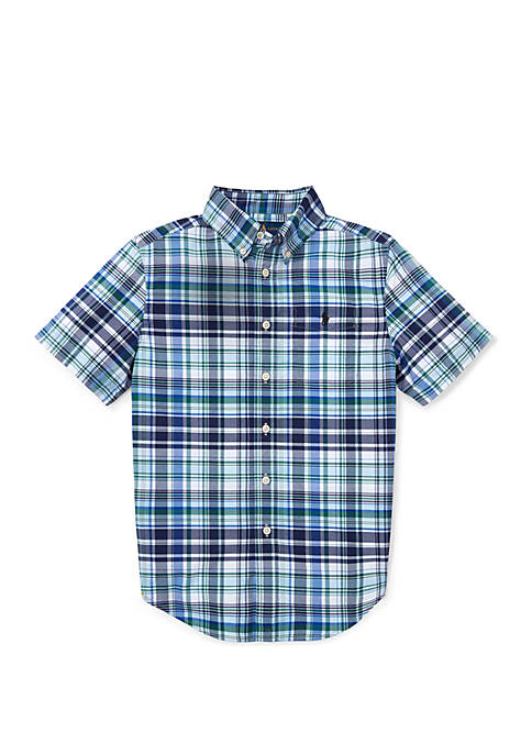 Ralph Lauren Childrenswear Boys 8-20 Performance Poplin Shirt