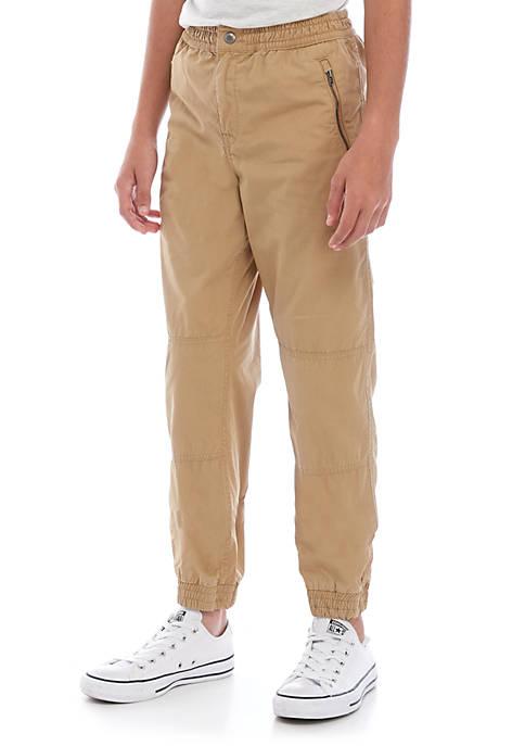 Boys 8-20 Cotton Poplin Jogger Pants