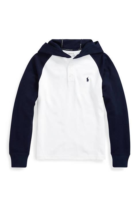 Ralph Lauren Childrenswear Boys 8-20 Cotton-Blend-Mesh Hoodie