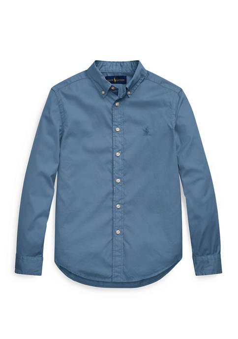 Boys 8-20 Cotton Twill Shirt