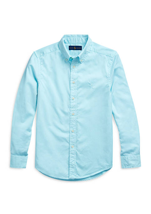 Boys 8-20 Cotton Twill Shirt