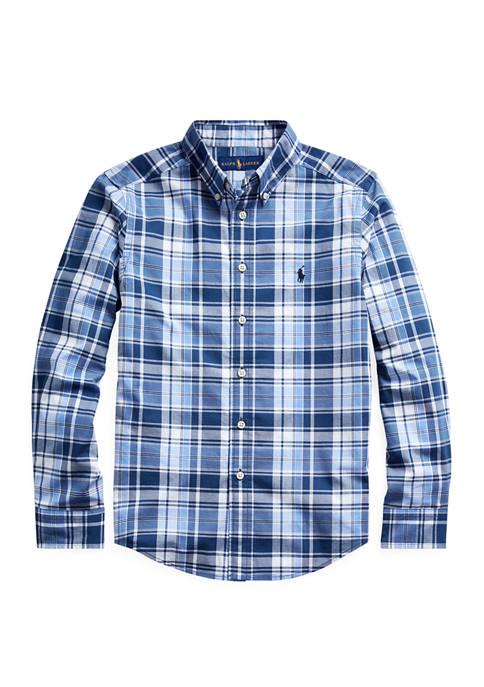 Boys 8-20 Stretch Cotton Poplin Shirt