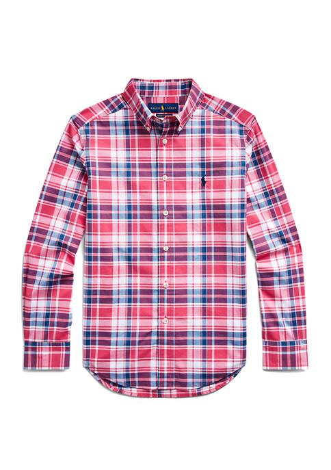 Ralph Lauren Childrenswear Boys 8-20 Stretch Cotton Poplin