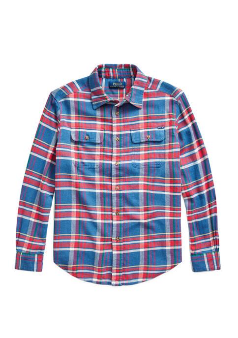 Ralph Lauren Childrenswear Boys 8-20 Plaid Cotton Twill