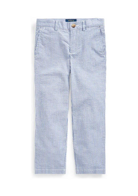 Ralph Lauren Childrenswear Boys 8-20 Stretch Seersucker Skinny
