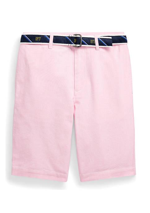 Boys 8-20 Slim Fit Belted Oxford Short