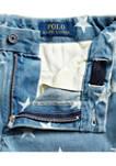 Boys 8-20 Star-Print Denim Shorts