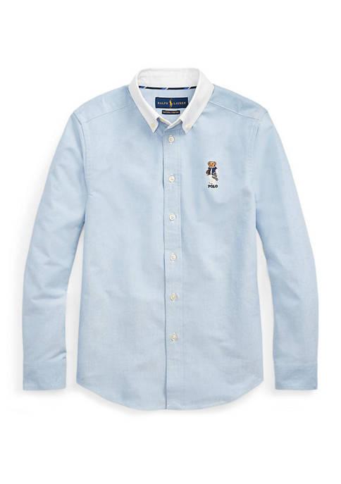 Ralph Lauren Childrenswear Boys 8-20 Football Bear Cotton