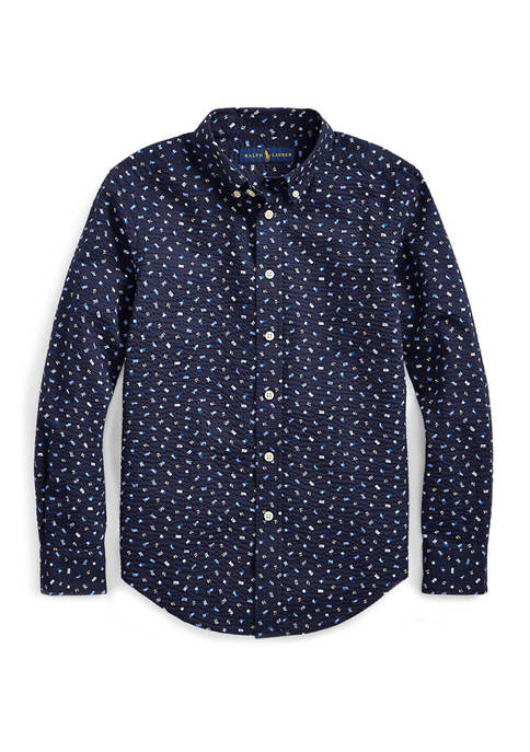 Ralph Lauren Childrenswear Boys 8-20 Nautical Seersucker Shirt