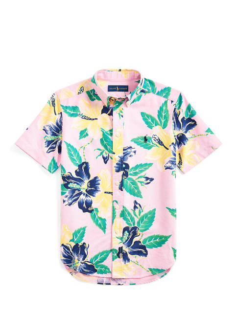 Ralph Lauren Childrenswear Boys 8-20 Floral Cotton Poplin