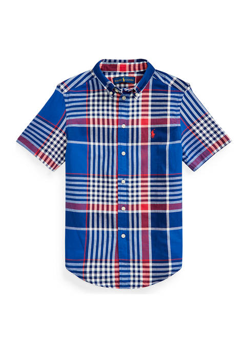 Ralph Lauren Childrenswear Boys 8-20 Cotton Madras Shirt