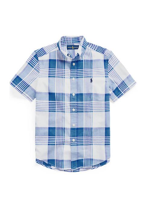 Ralph Lauren Childrenswear Boys 8-20 Cotton Madras Shirt