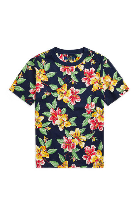 Ralph Lauren Childrenswear Boys 8-20 Floral-Print Cotton Jersey