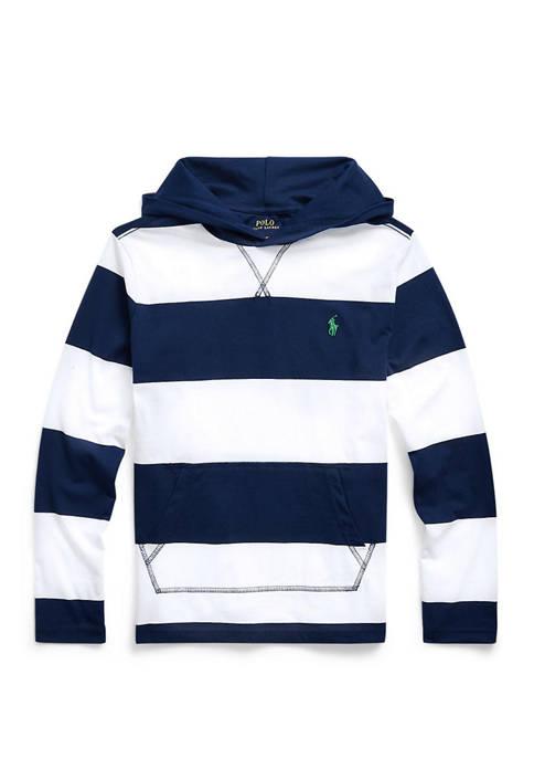 Ralph Lauren Childrenswear Boys 8-20 Striped Cotton Hooded