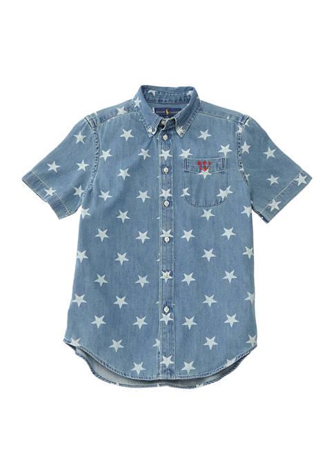 Ralph Lauren Childrenswear Boys 8-20 Star-Print Cotton Denim