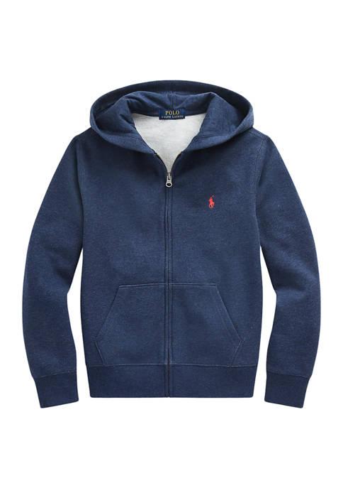 Ralph Lauren Childrenswear Boys 8-20 Cotton-Blend-Fleece Hoodie