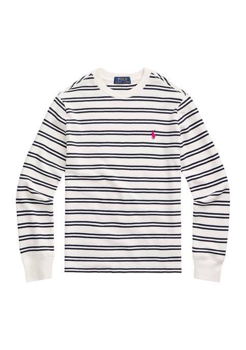 Boys 8-20 Striped Waffle-Knit Cotton Tee