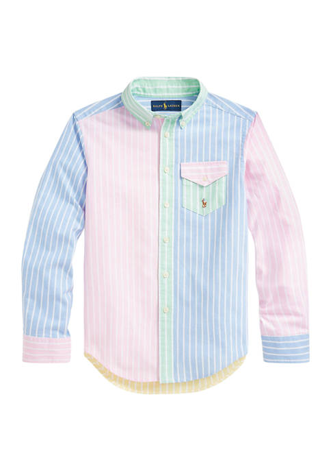 Ralph Lauren Childrenswear Boys 8-20 Striped Cotton Oxford