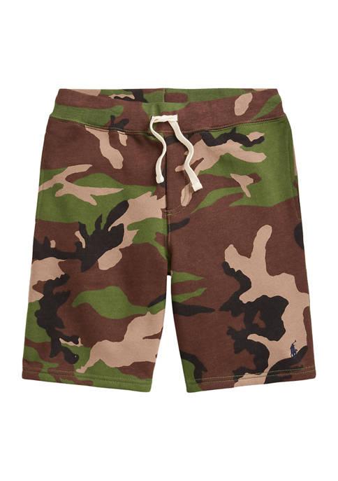 Ralph Lauren Childrenswear Boys 8-20 Camo Fleece Shorts