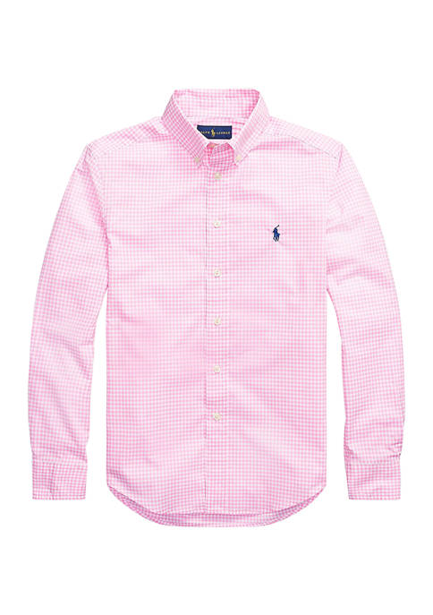 Ralph Lauren Childrenswear Boys 8-20 Gingham Cotton Poplin