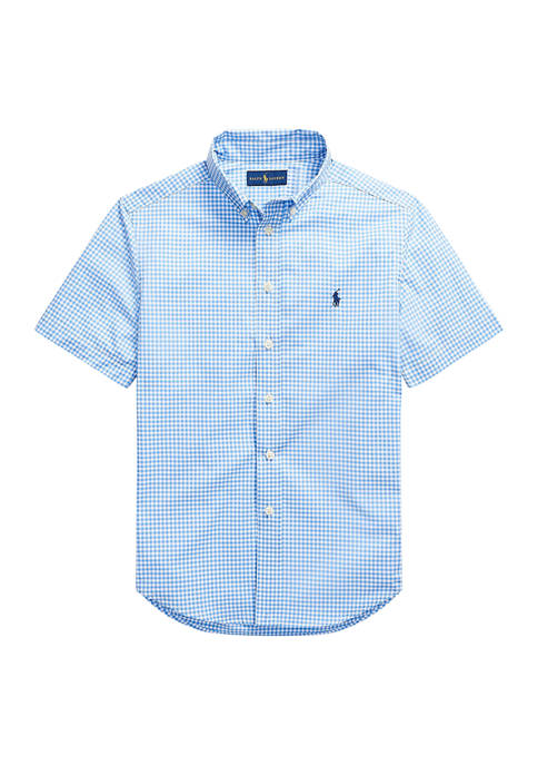 Ralph Lauren Childrenswear Boys 8-20 Gingham Cotton Poplin