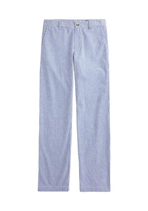 Boys 8-20 Stretch Cotton Seersucker Skinny Pants